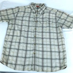 The North Face MENS Short Sleeve Plaid Shirt Large